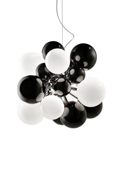 Digit Light Regular - Ceiling - Black and White Lattimo