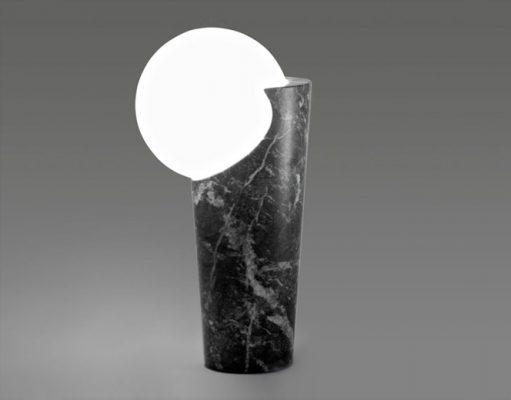 Osmosi Lamp 3 - Grey Carnico Marble