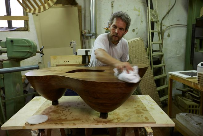 Work in progress - master cabinetmaker Anders Lunderskov