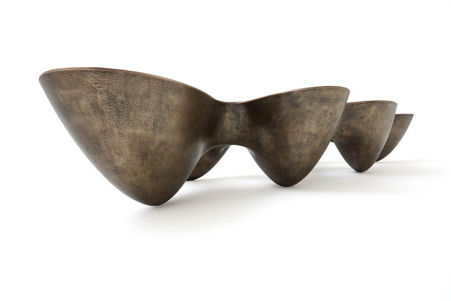 Quark Bronze 7 elements, Finish: Scratched black patina, polished and varnished