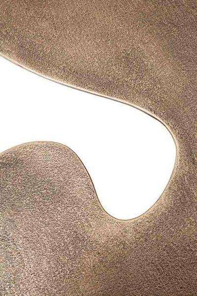 Detail of Quark Bronze 7 elements, Finish: Scratched black patina, polished and varnished
