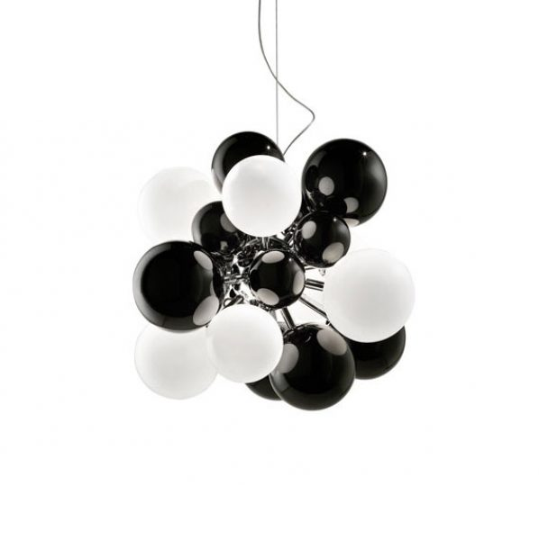Digit Light - Ceiling - Black and White Lattimo